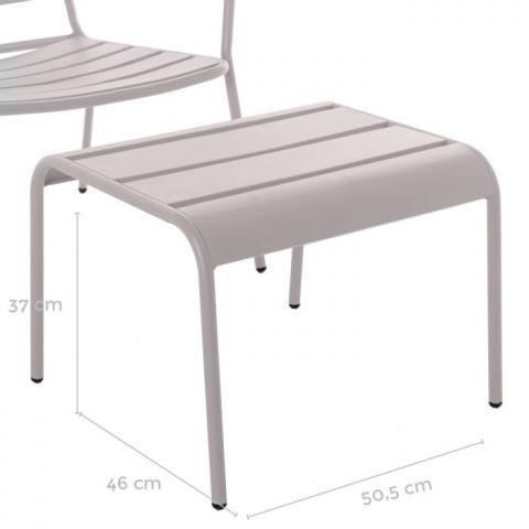 TABURETE CHIETI ACERO GRIA APILABLE 50x47x37